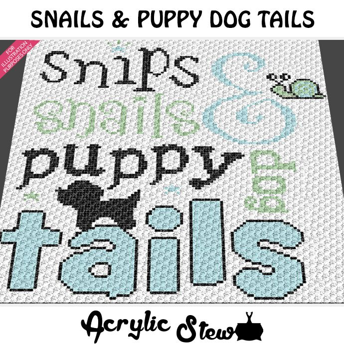 Snips and Snails and Puppy Dog Tails crochet blanket pattern; c2c ...