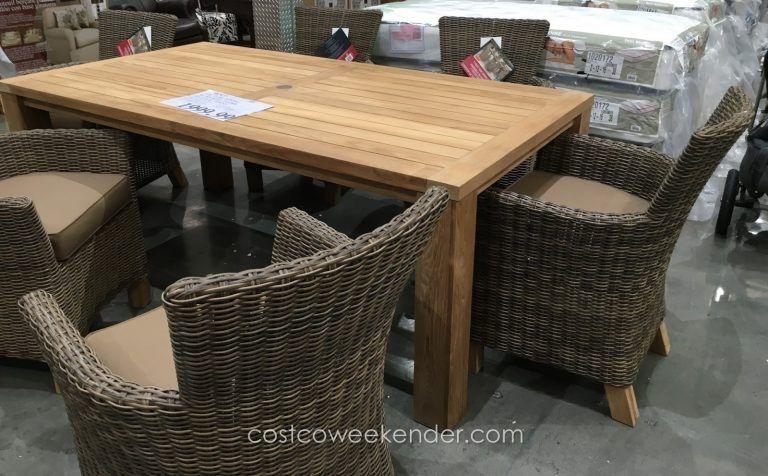 20 Bar Height Patio Furniture Costco, Teak Outdoor Furniture Costco