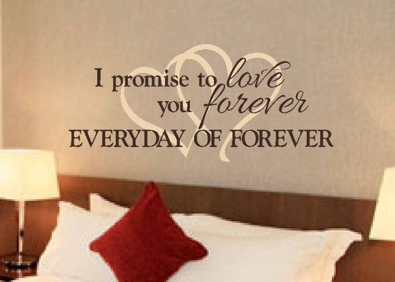 Romantic sayings vinyl wall art master bedroom by for Bedroom vinyl quotes