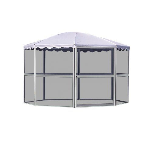 Casita 8 Panel Round Screenhouse 83222 White With Gray Roof You Can Get More Details By Clicking On The Affiliate Link Screen House House Tent Tent Reviews