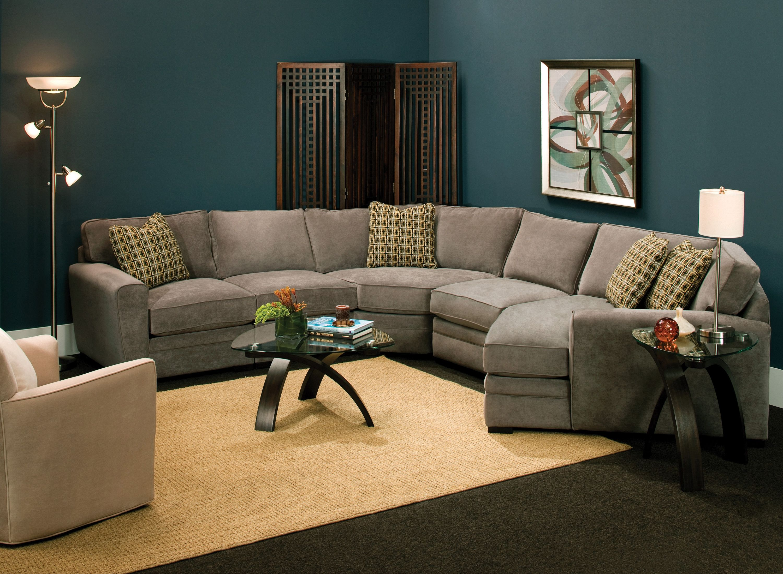 Artemis Ii 4 Pc Microfiber Sectional Sofa Living Room Sofa