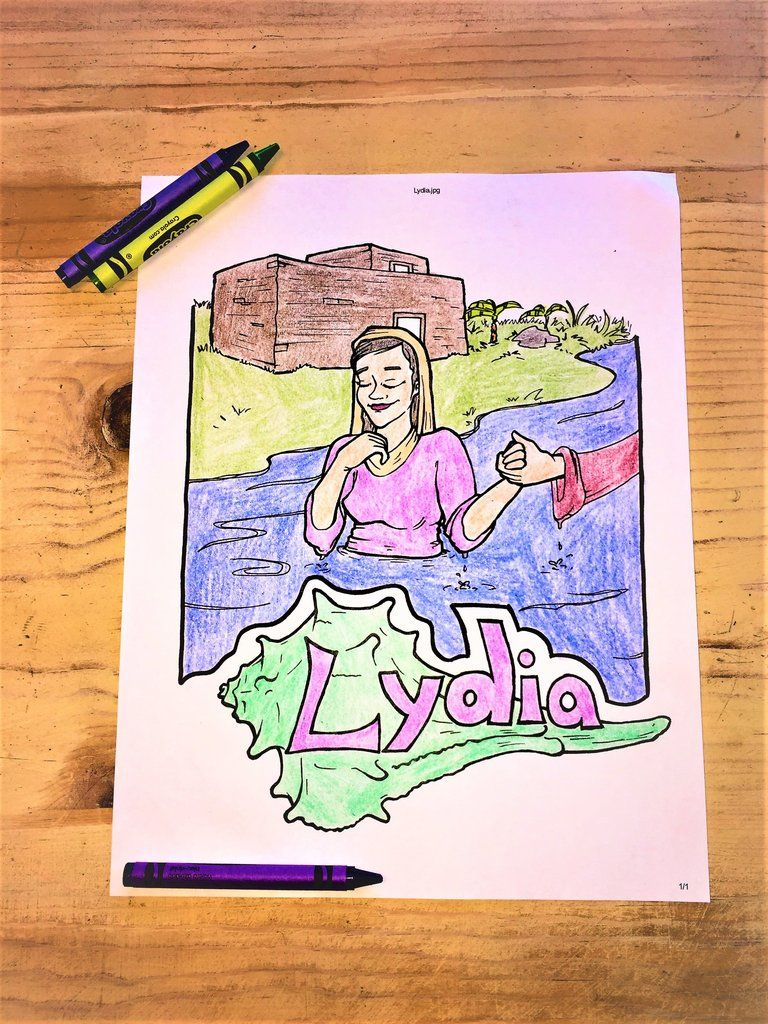 Lydia Coloring Page Sunday School Coloring Pages Bible Coloring