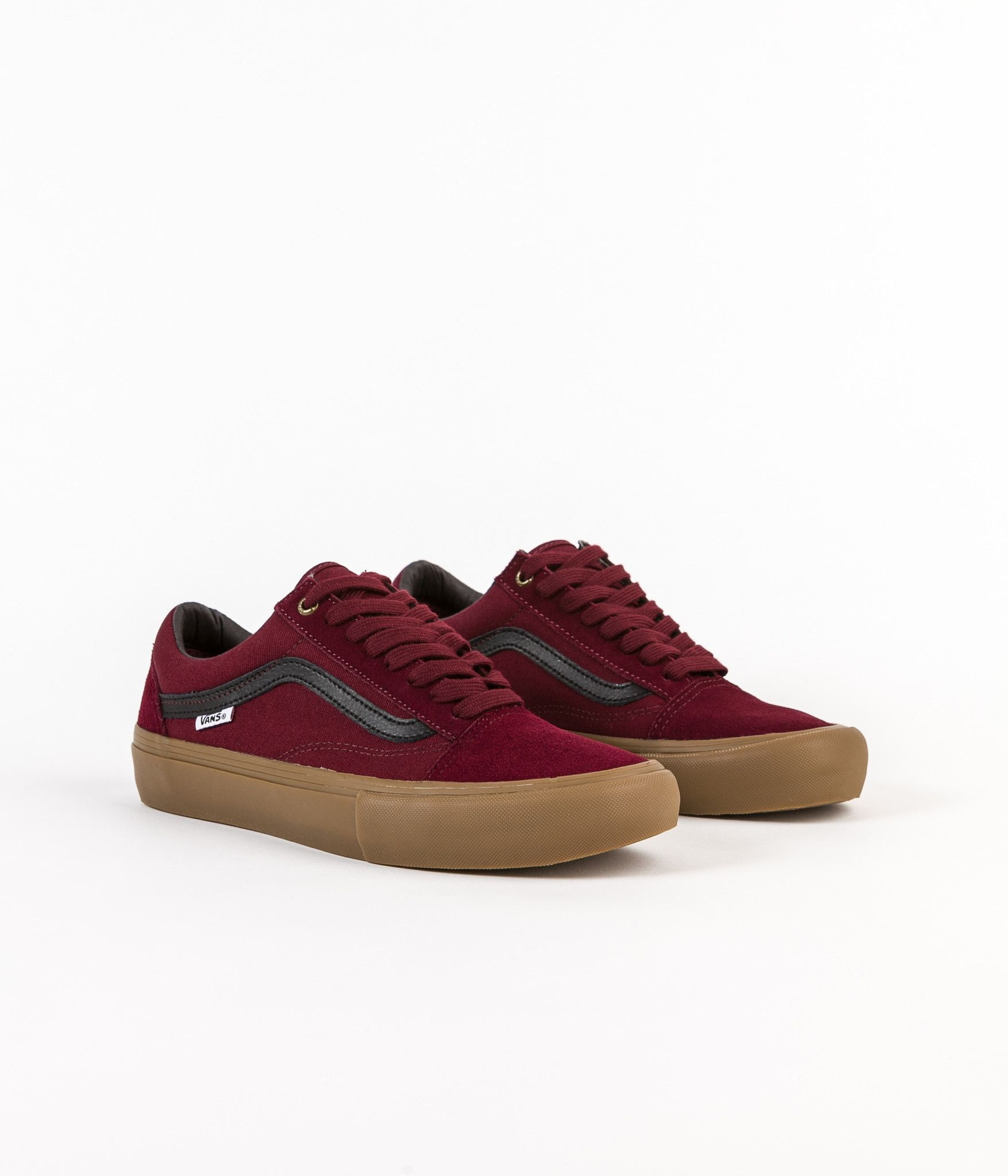 6c0935588851 Vans Old Skool Pro Shoes - Port   Black   Gum