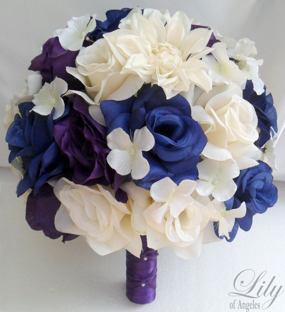 blue and purple wedding bouquets | ... Wedding Decoration Bridal ...