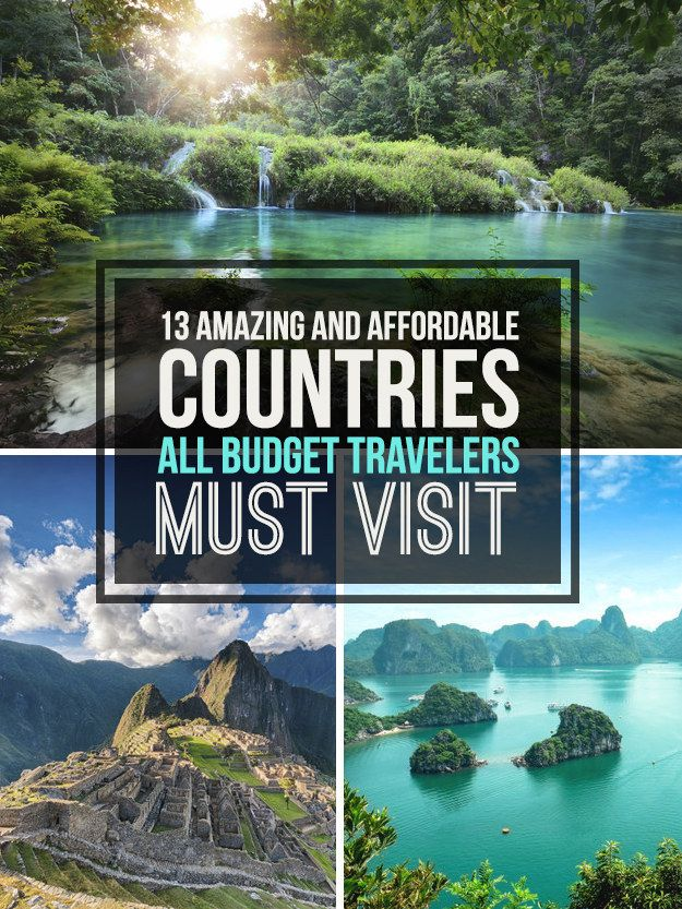13 Affordable Countries That Are Perfect For Budget Travelers | travels | Travel, Budget travel ...