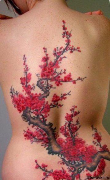 Mehndi Tattoo Espalda : Cherry blossom tattoo chinese calligraphy tattoos