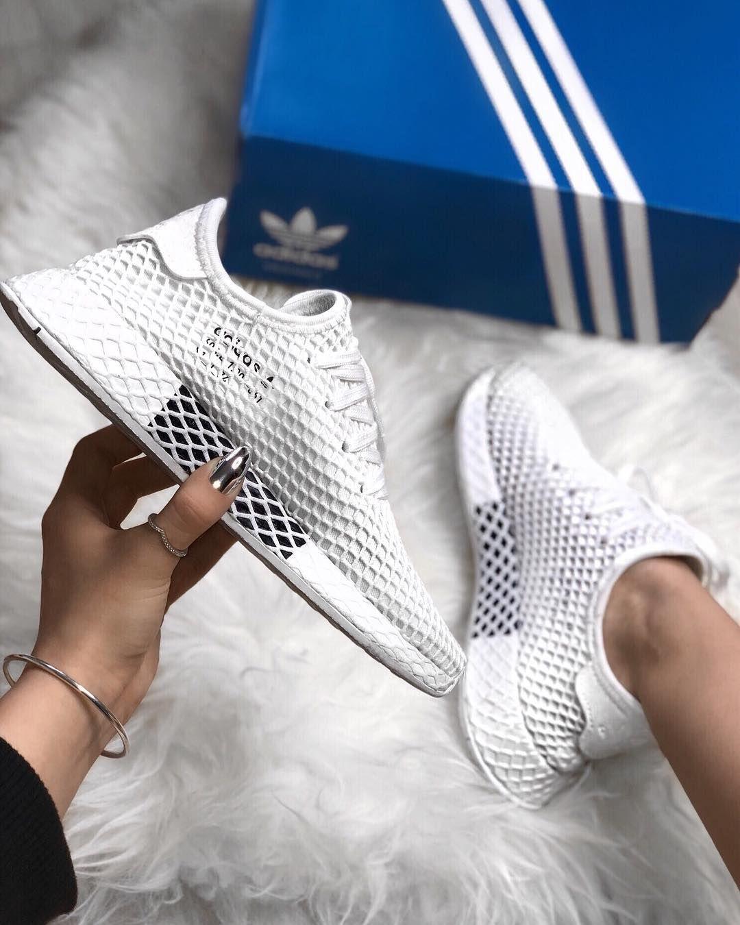 adidas Originals Deerupt - Triple White | ME | Turnschuhe