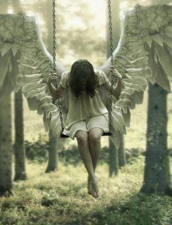 Sometimes the weight of the world looks like this and even angels need a break