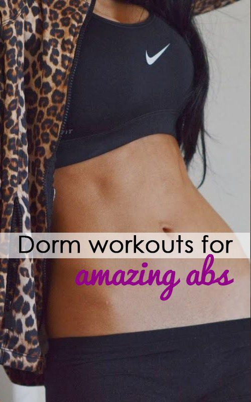Dorm Room Workouts For Amazing Abs