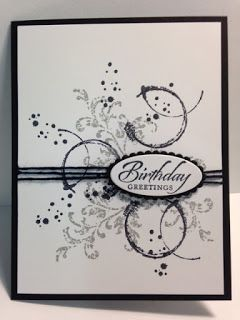 A Timeless Textures and Wetlands Birthday Card #rubberstamping
