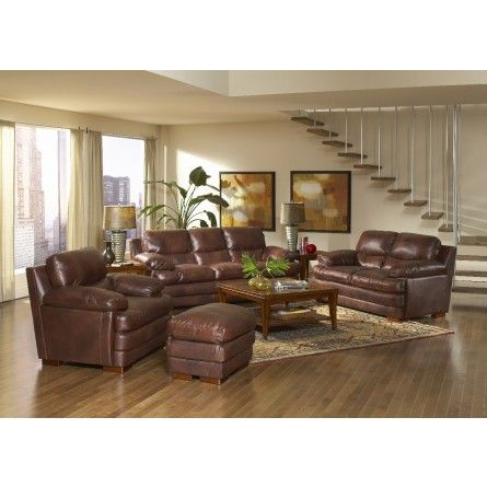 Purchase this gorgeous brown leather living room set today and have it in your home, TODAY! | Houston TX | Gallery Furniture |