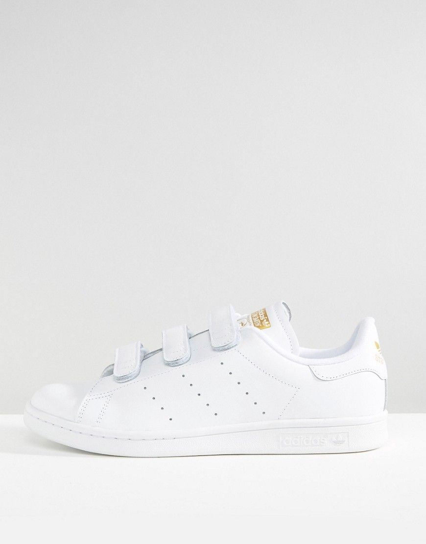 752fa3c999d4b adidas Originals Stan Smith CF Sneakers In White S75188 | Shoes ...