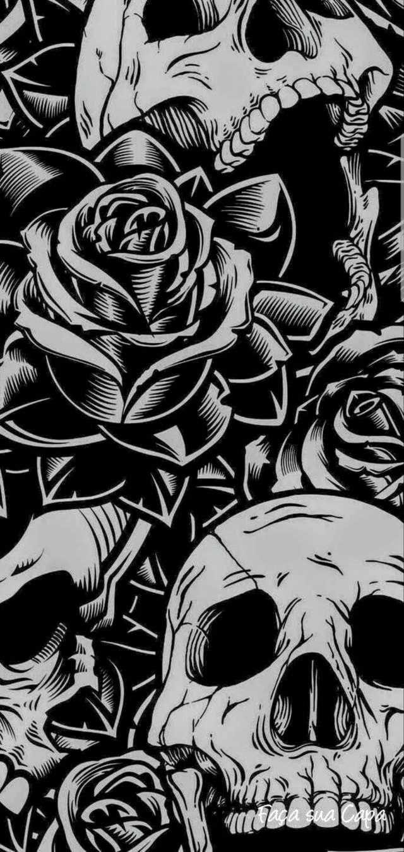 Note 10 5g Teardown From Ifixit Graffiti Wallpaper Skull