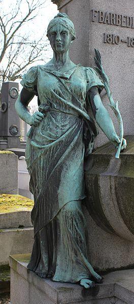 Tombeau de Ferdinand Barbedienne par Alfred Boucher. Père- Lachaise