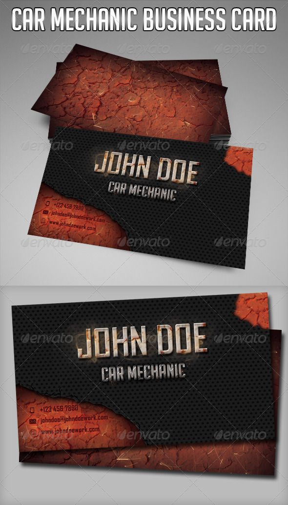Car Mechanic Business Card | Business cards, Business and Cars