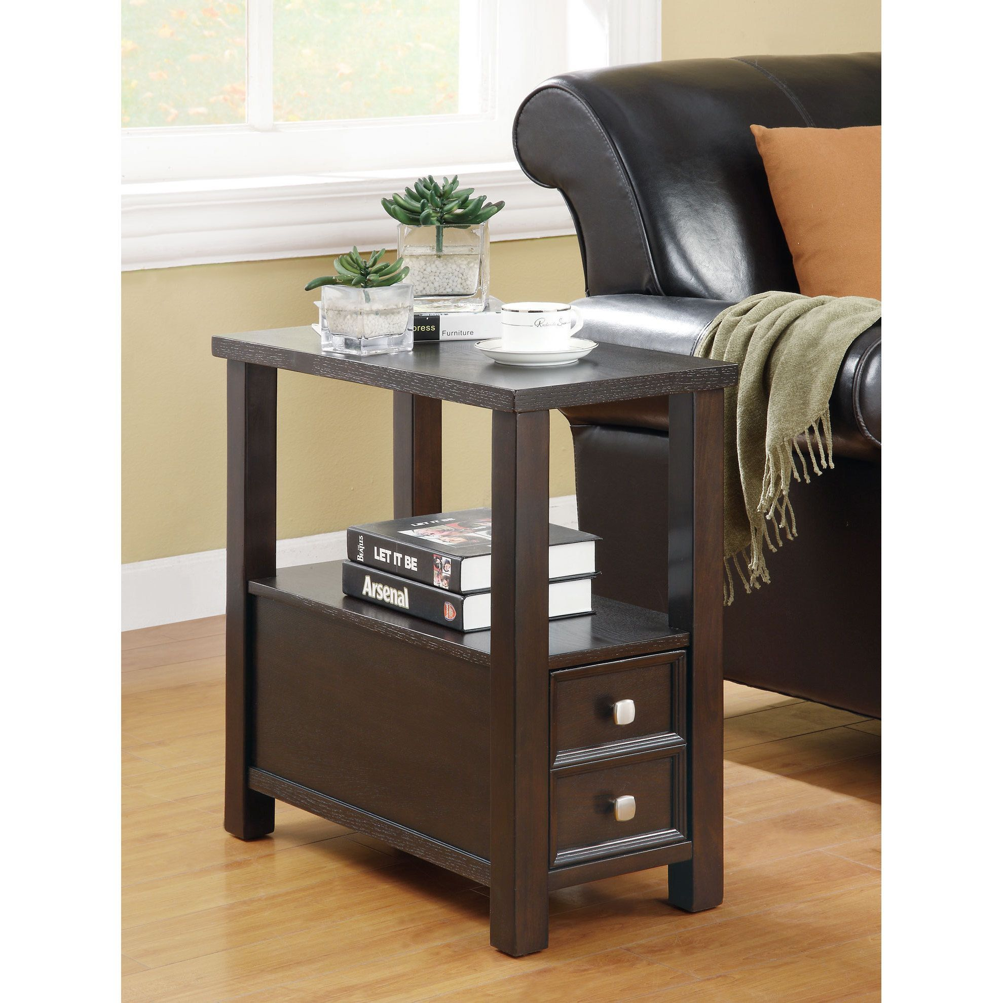 Coaster Company Cappuccino Single Drawer Side Table 24 X 12 X 24 Chair Side Table End Tables With Drawers Sofa End Tables