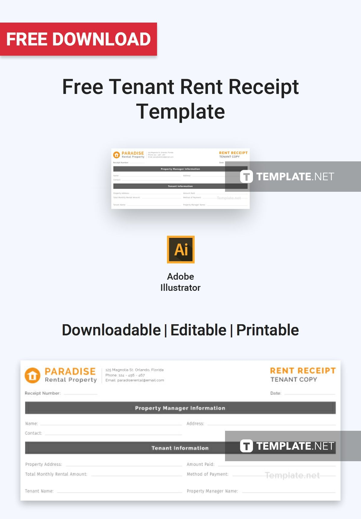 Tenant Rent Receipt Template Free Pdf Google Docs Google Sheets Excel Word Template Net Receipt Template Templates Being A Landlord