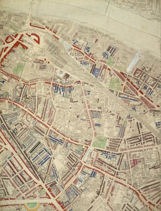 Charles Booths Descriptive Map Of London Poverty Section - Old map shop london