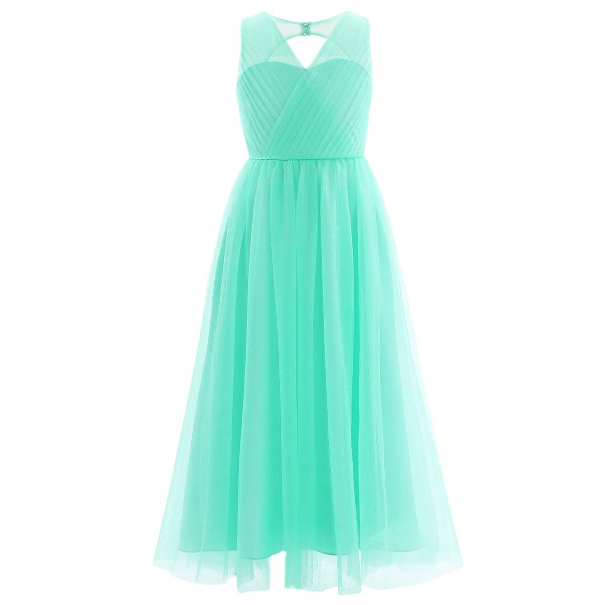 iEFiEL Turquoise Flower Girl Dresses Princess Pageant Wedding ...