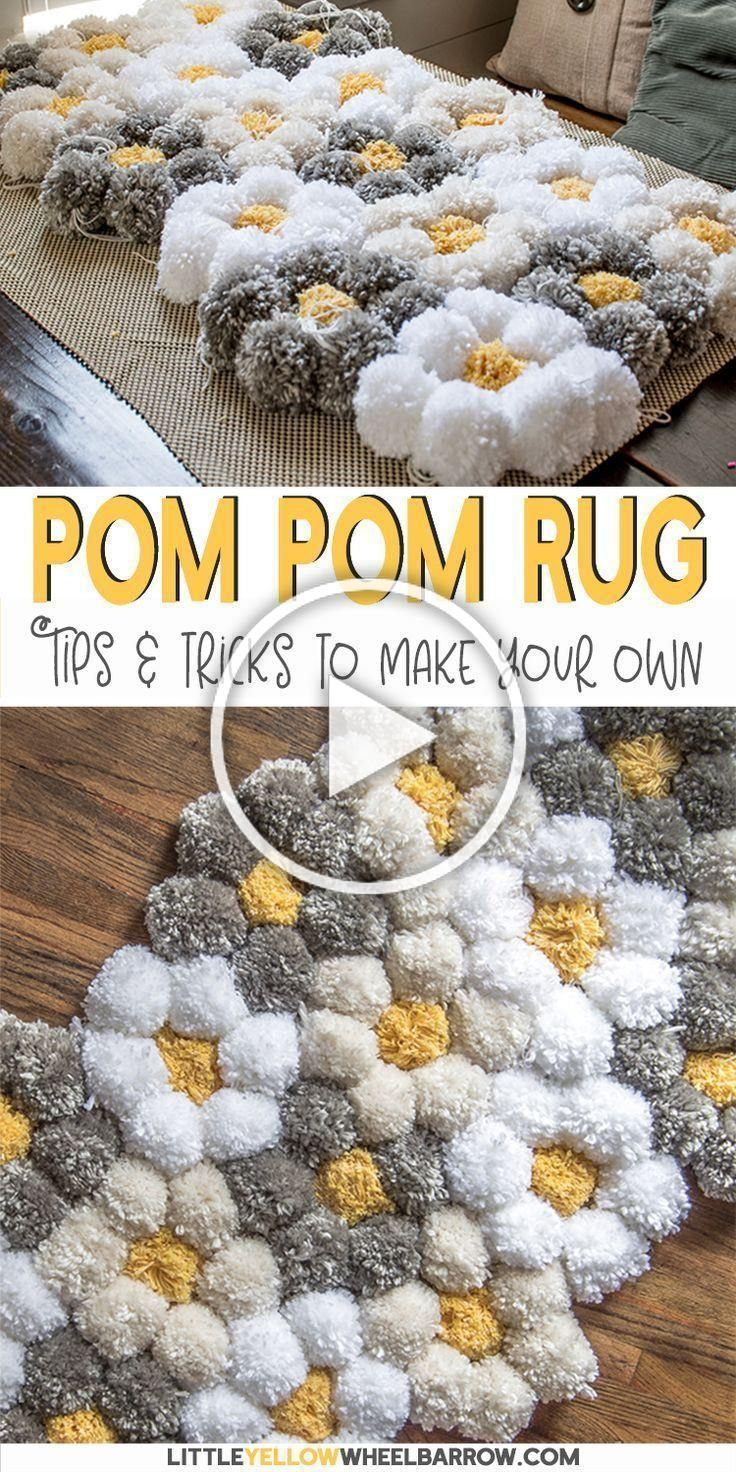 If you love pom pom rugs as much as I do you will want to read this tips and tricks tutorial for making a pom pom rug really fast We give details about what pom pom rug b...