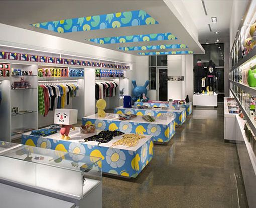 MASHstudios Interior Design For Kid Robot Retail Store In Miami