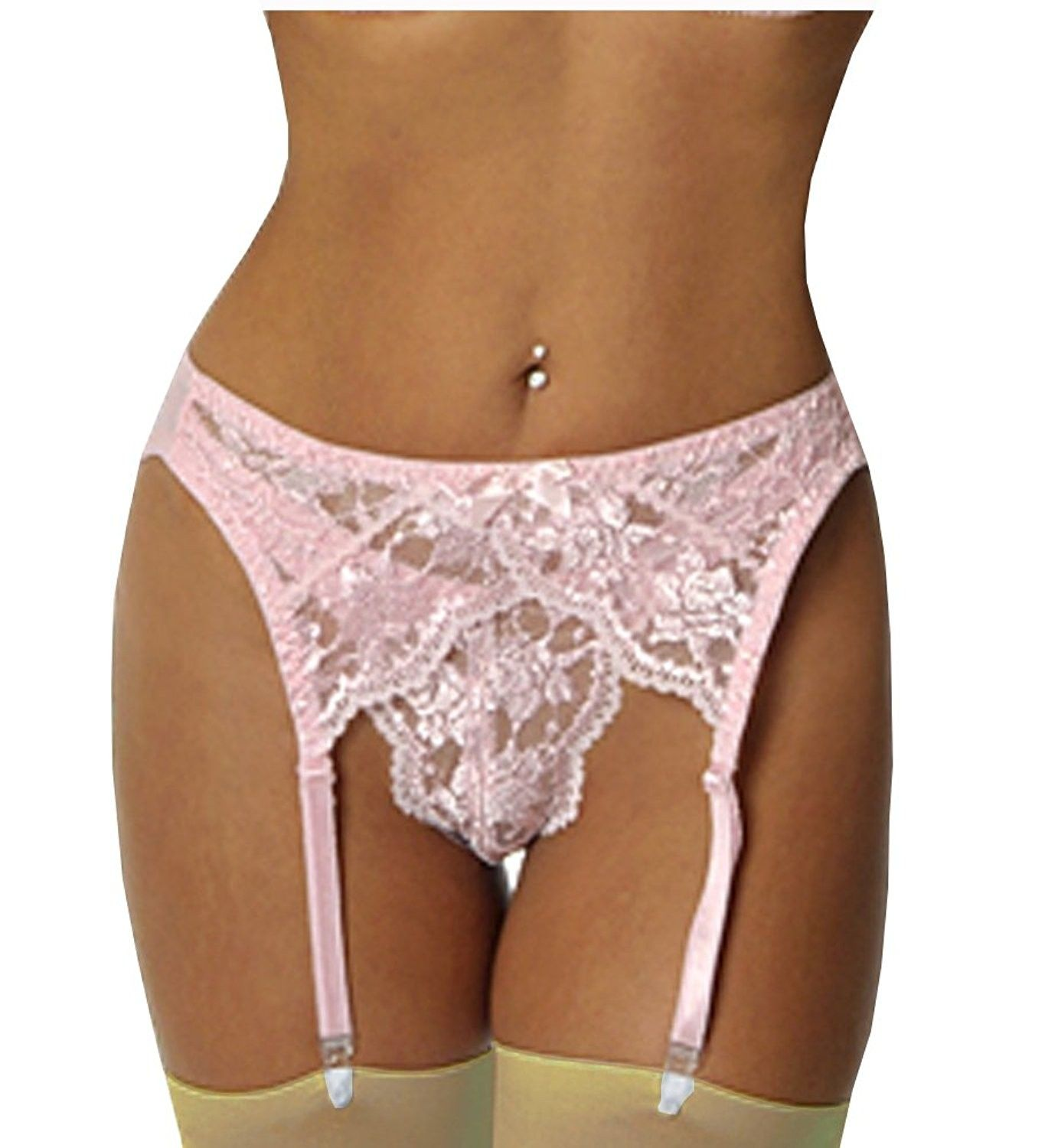 763062e0fc096 Women's Clothing, Lingerie, Sleep & Lounge, Lingerie, Garters & Garter Belts,  (TM) Luster Lace Garter Belt Thong Stockings 3 Pcs Bundle Black - Pink ...