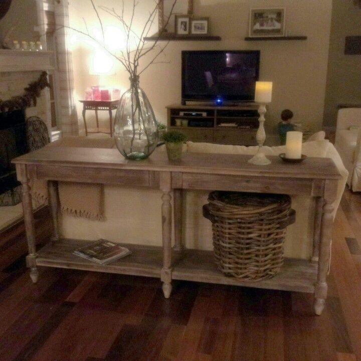 Cost Plus Industrial Coffee Table: World Market Sofa Table Wood And Metal Aiden Console Table