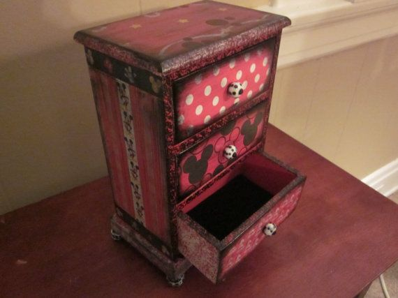 Mickey Mouse Disney Decorative Jewelry Box Mickey mouse Mice and Box