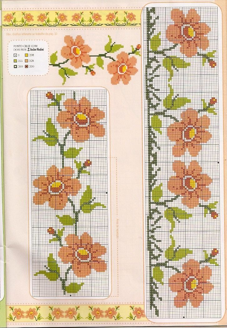 Schemi di punto croce per asciugamani ricamo pinterest for Ricamo schemi gratis