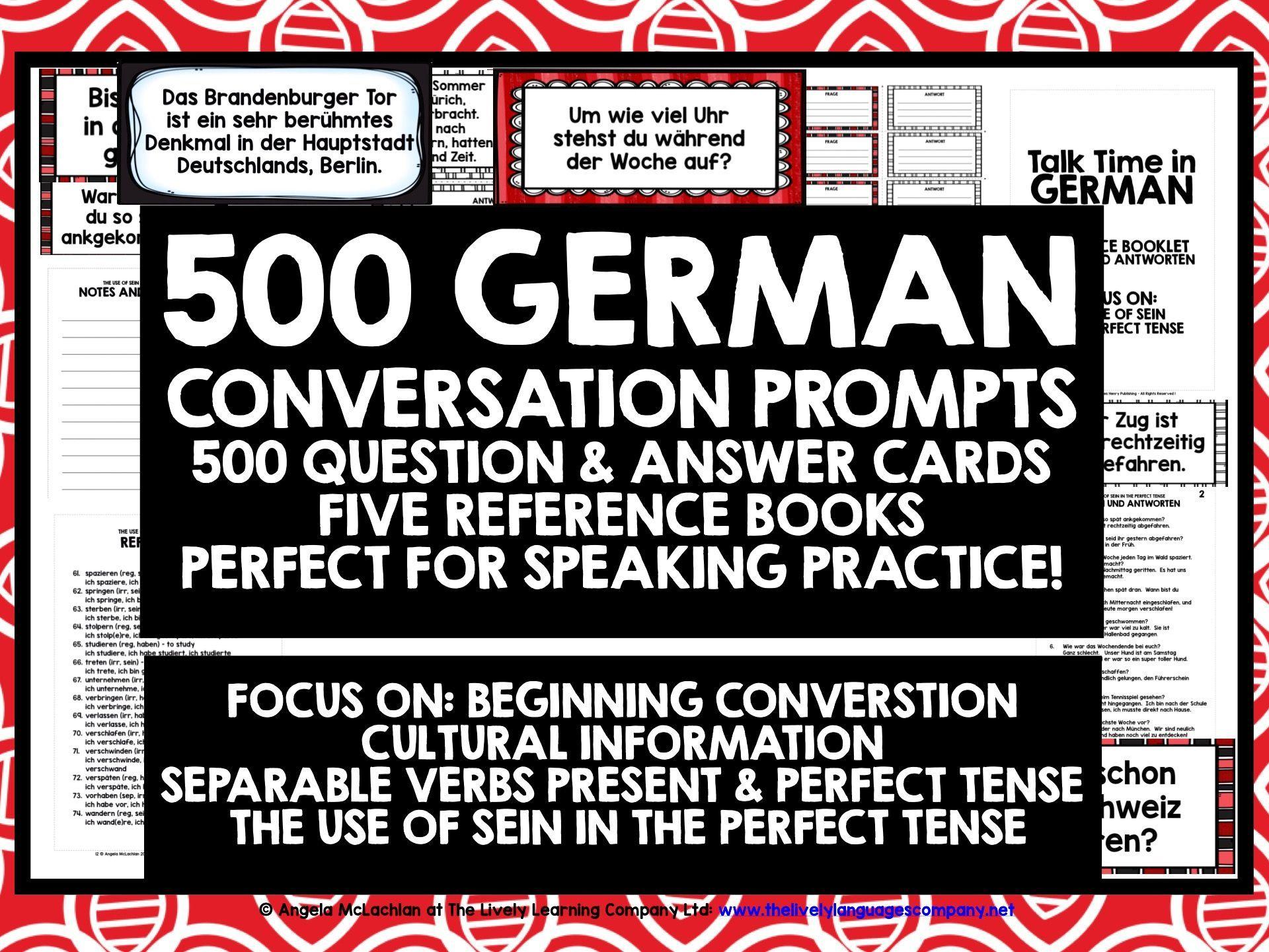 German Conversation Cards Bundle 1 With Images