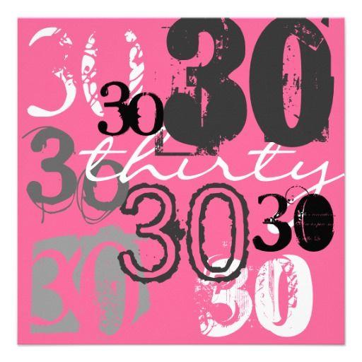 30. Geburtstags Party Einladungen
