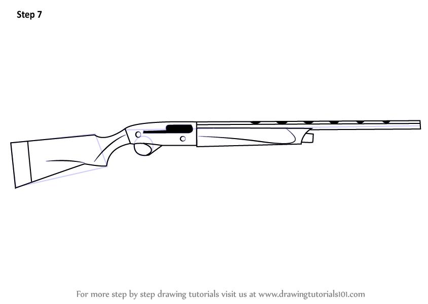 Раскраска ружье охотника