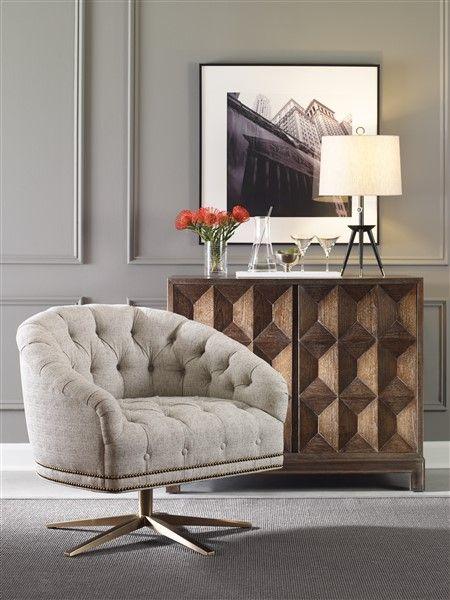 Vanguard Furniture Slade Swivel Chair Alessio Chest Vanguard