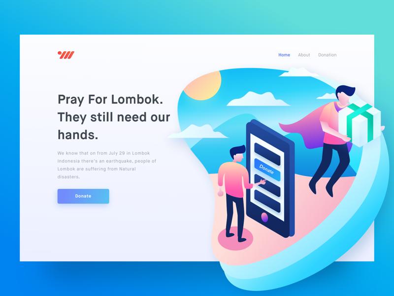 Charity For Lombok Illustration Story Web Design Illustration