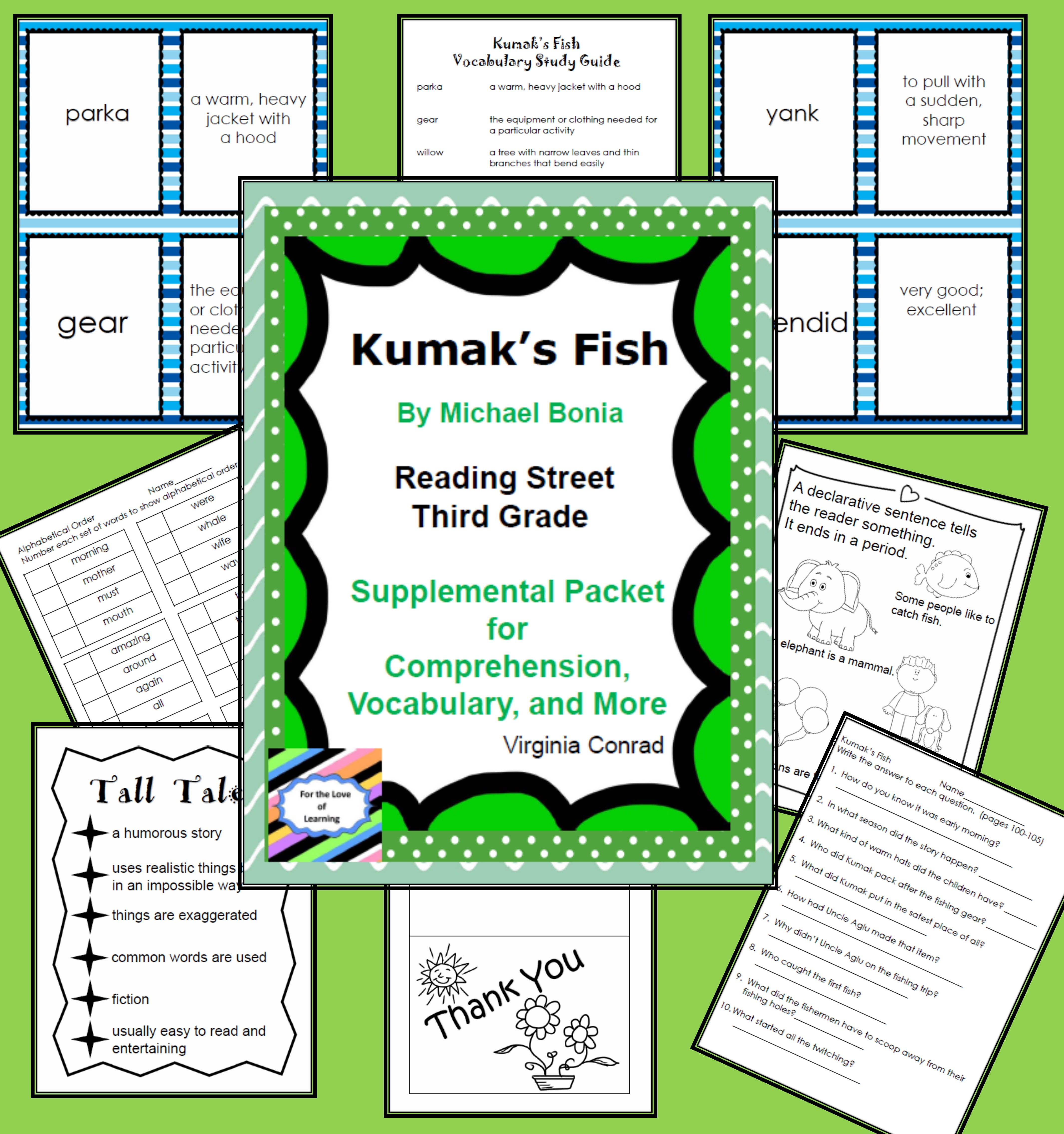Kumak S Fish Reading Street Supplemental Packet