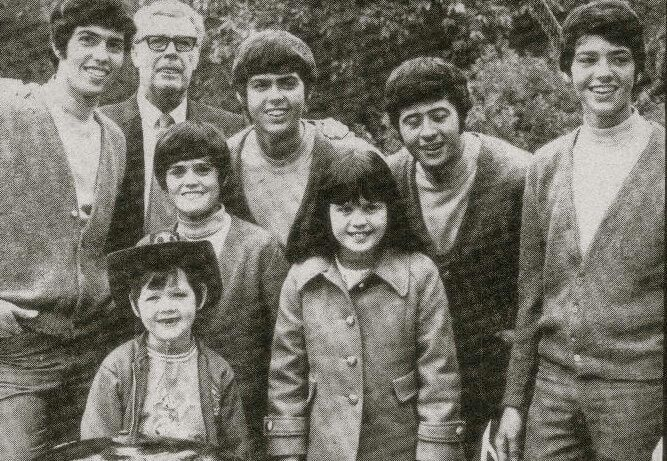 The Osmonds after shooting Disneyland Showtime in 1970