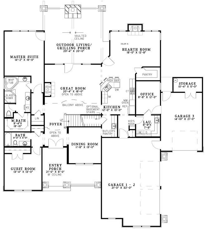 Open Floor Plan Rustic House Plans New House Plans House Plans