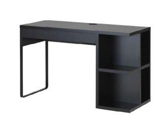 מיקה שולחן כתיבה עם אחסון מובנה 50*120 שחור חום our home