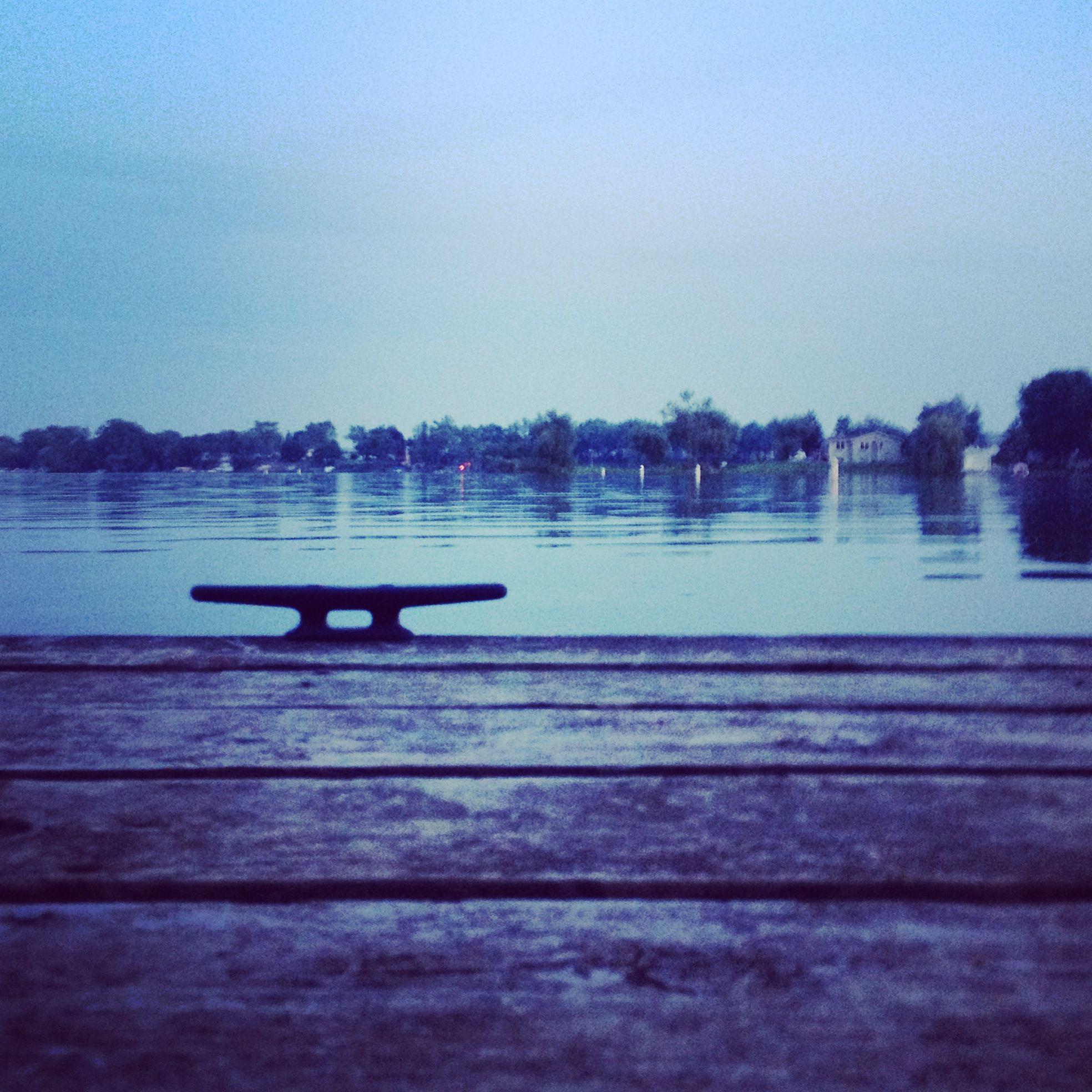 dusk on the dock