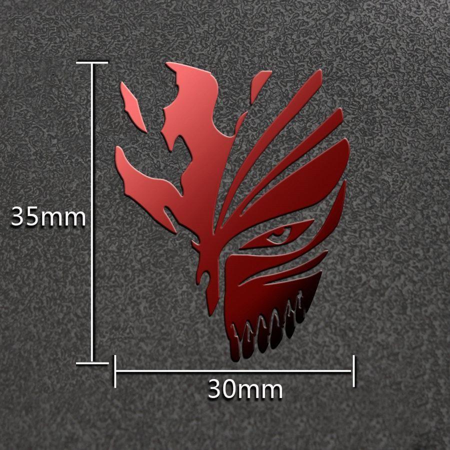 Hot Anime Bleach 3d Metal Stickers Luxury Phone Laptop Sticker