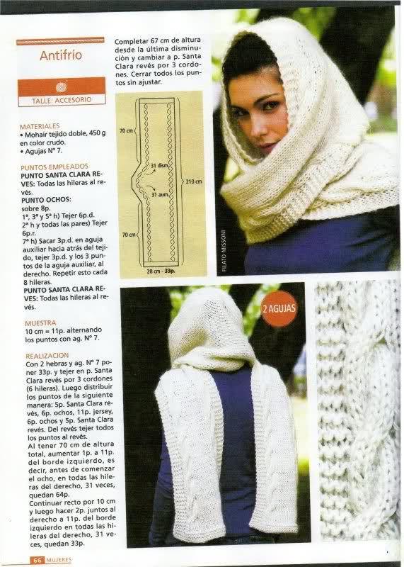 bufanda capucha | moldes | Pinterest | Patrones de bufandas, Capucha ...