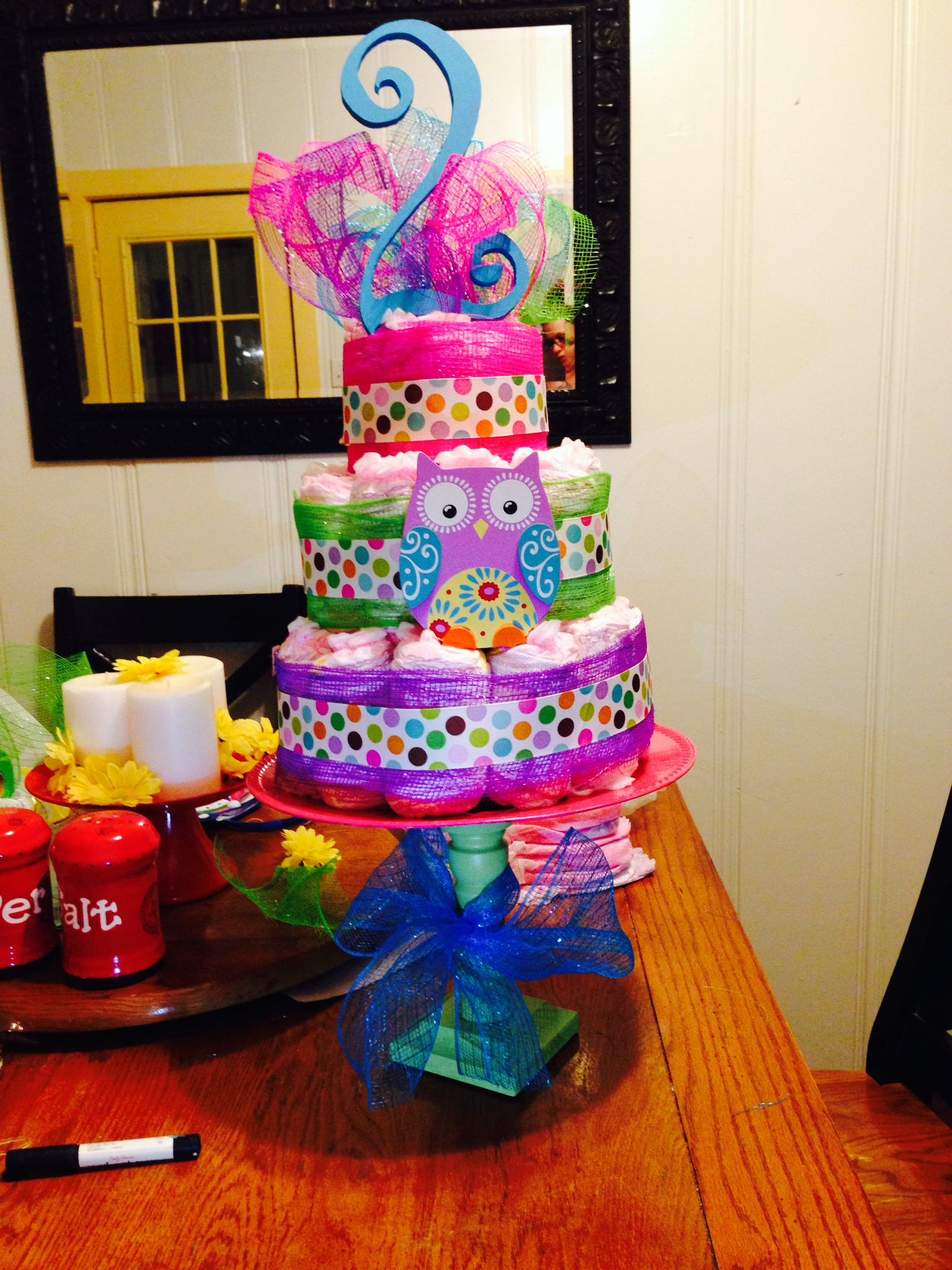 Big Girl Pull Up Cake For 2 Year Old Birthday Party