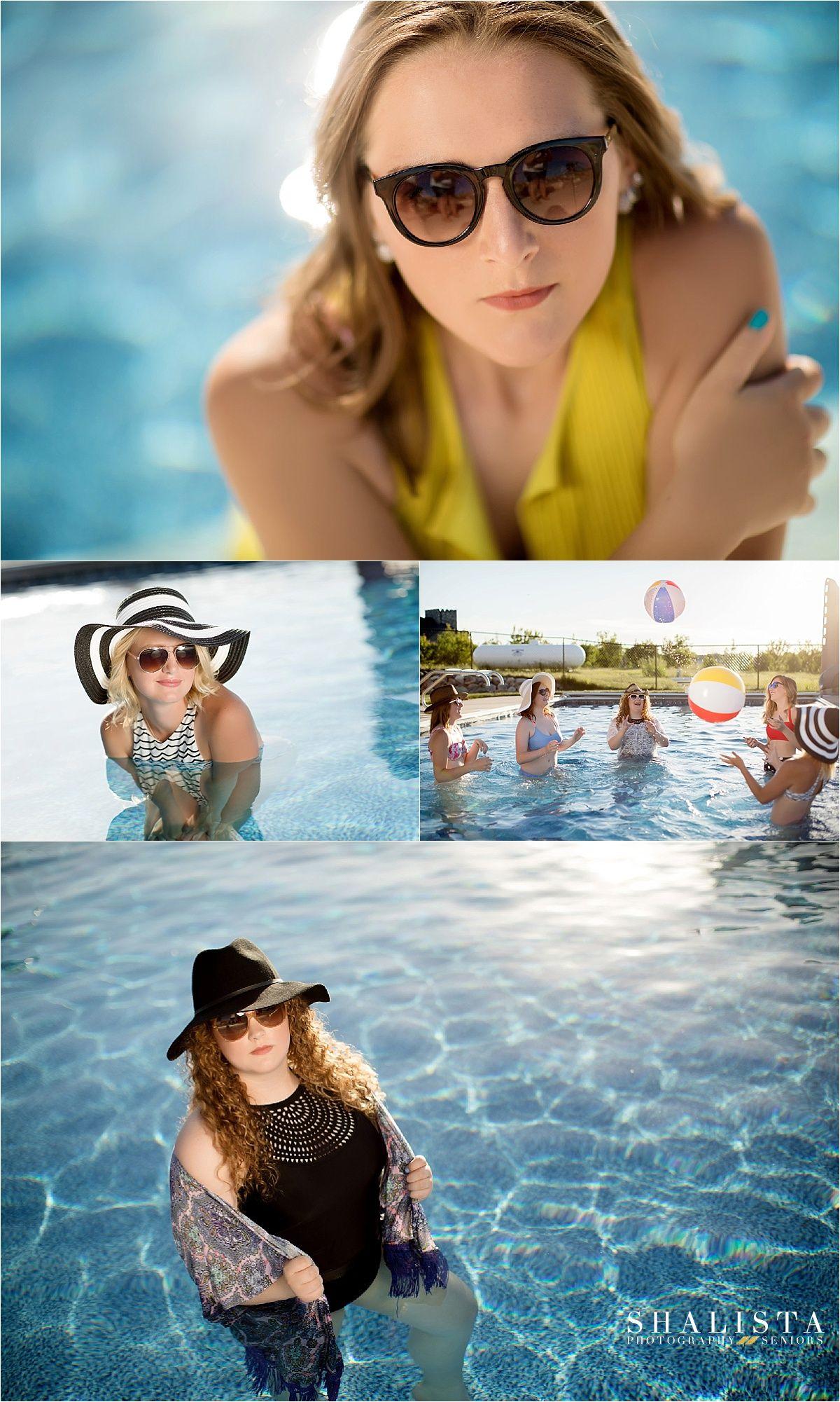 Senior Models Summer Pool Photoshoot! Pool photography