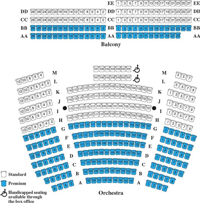 Landmark theatre syracuse ny seating chart seating chart