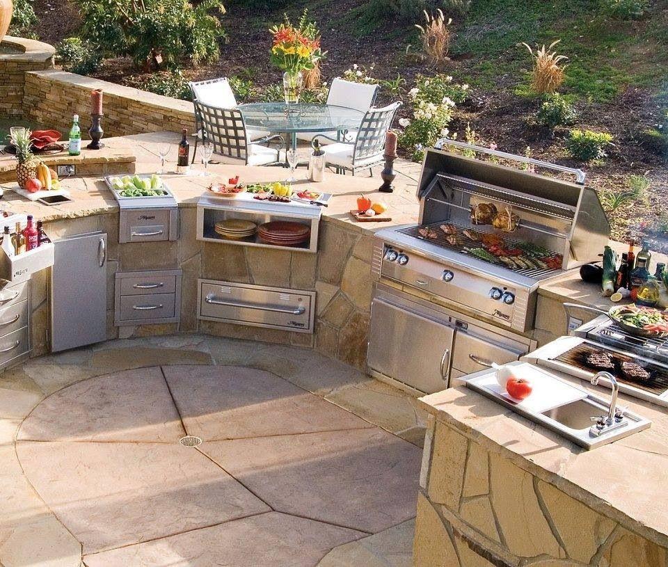 Cocina exterior barbacoa dise o terraza awesome great for Cocina barbacoa exterior