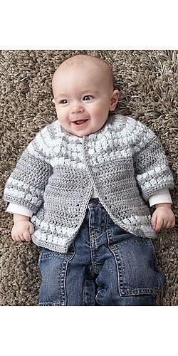Ravelry: Cluster Yoke Cardigan pattern by Patons | Crochet: Infants ...
