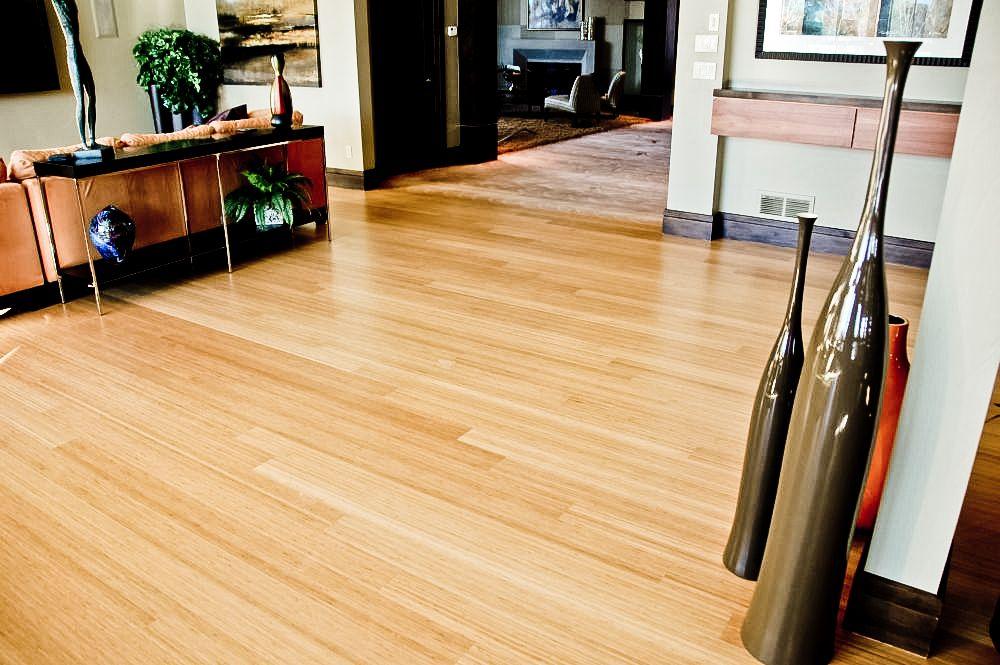 Bamboo flooring adds a modern look bamboo flooring