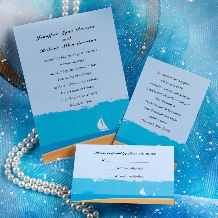 Sailing Boat Wedding Invitations AUS056 | Future | Pinterest ...