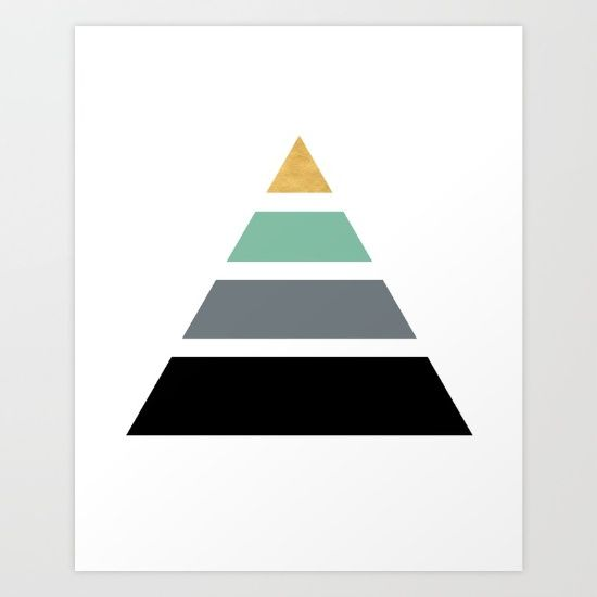 DIVIDED PYRAMID TRIANGLE WIT GOLDEN CAPSTONE - This pyramid made - triangular graph paper