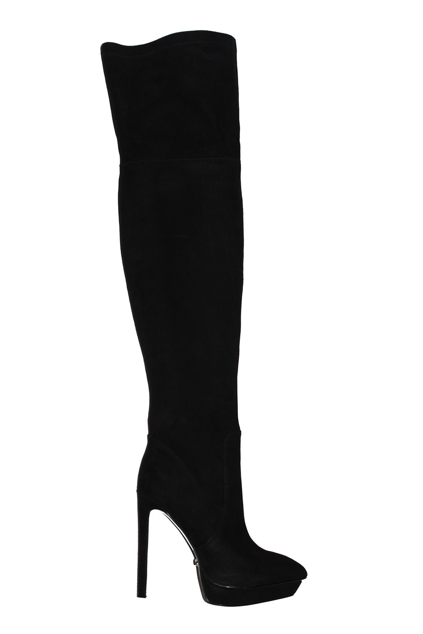 0fdc1a5ac35 5 inch Heels - Black suede over the knee high heel boots   Susy ...